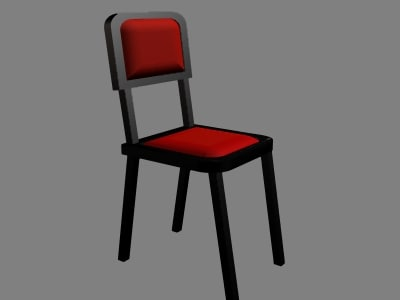 3d model basic chair