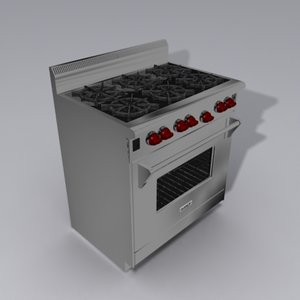 wolf stove 3d model