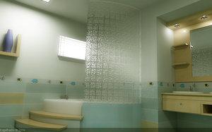 3ds bathroom scene
