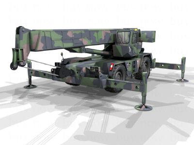 rough terrain container crane 3d model