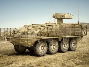 army stryker atgm 3d model