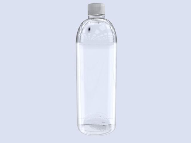 plastic water bottle 3d model
