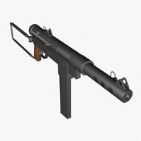 ww2 carl gustav gun 3d model