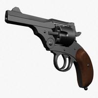 revolver pistol 3d model