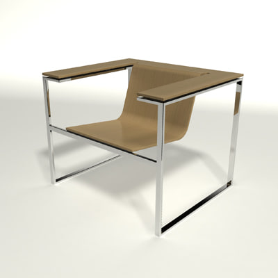 3d model lapalma laaka chair