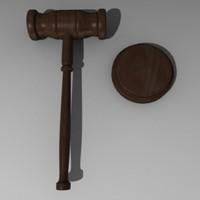 knocker gavel hammer 3d model