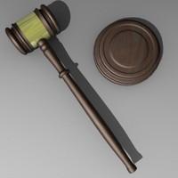 3d knocker gavel