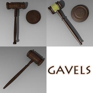 3d 3ds knocker gavel hammer