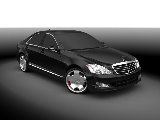 3d model mercedes s 2007 car