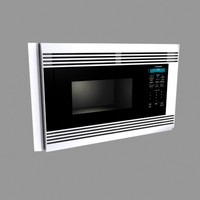 built-in wolf microwave oven 3d model