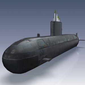 victoria class submarine 3d model