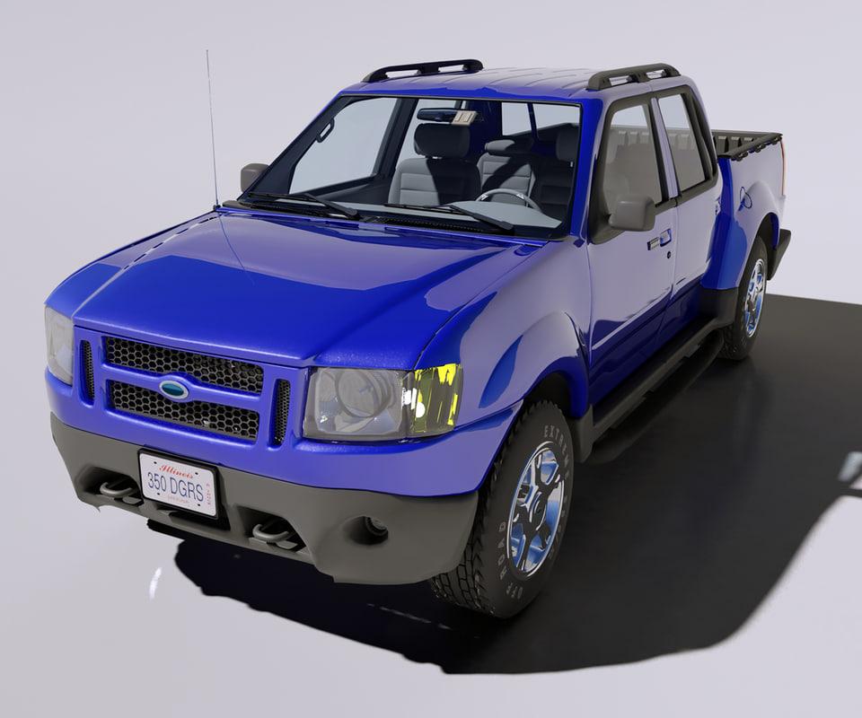 3ds max sport trac truck