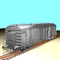 3dsmax freight wagon