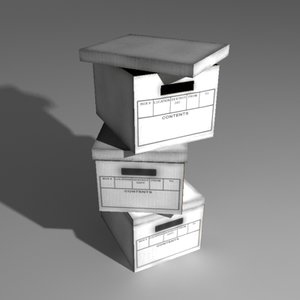 document boxes 3d model