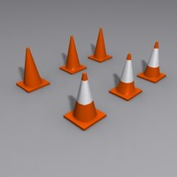 3ds max traffic safety cones