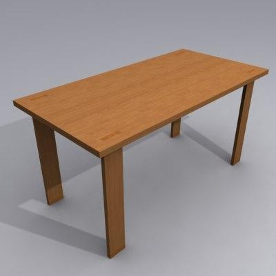 modernica tenon table 3d model