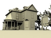 victorian home 3d model
