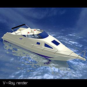 sport motoryacht yacht 3d max
