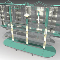 3d model shop boutique storage