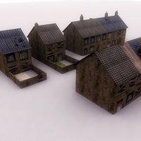derelict house 3d model