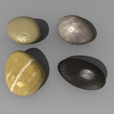 3d model of stones