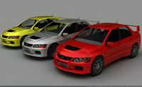 3d model car mitsubishi evo