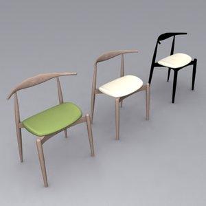 wegner ch20 elbow chair 3d model