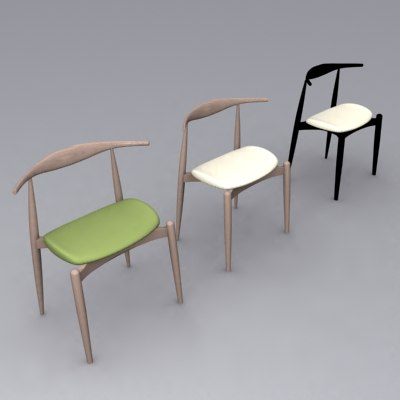 wegner ch20 elbow chair 3d model