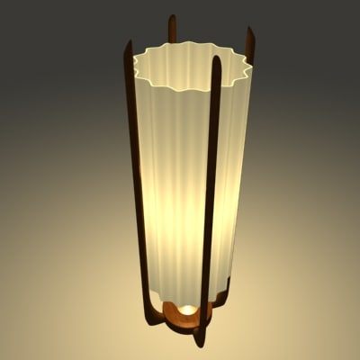 3d danish modern floor lamp model