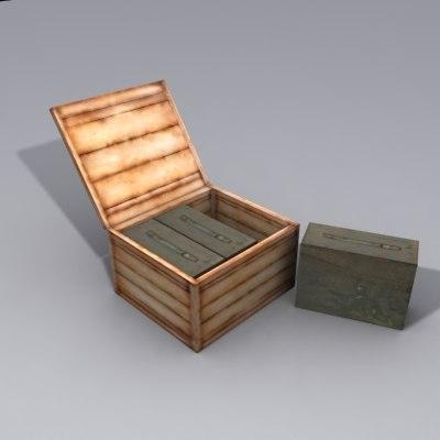 3d ammo crate model