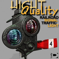 Realistic Railroad Signal Traffic Light