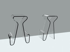 3d model barstools stool