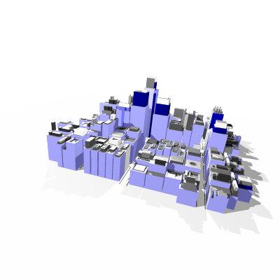 virtual city t3d 3d model