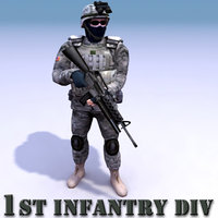usarmy character army military 3d max