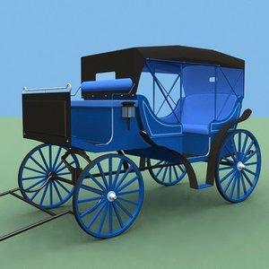 3d model carts carriages