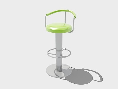 free stool chair bar 3d model
