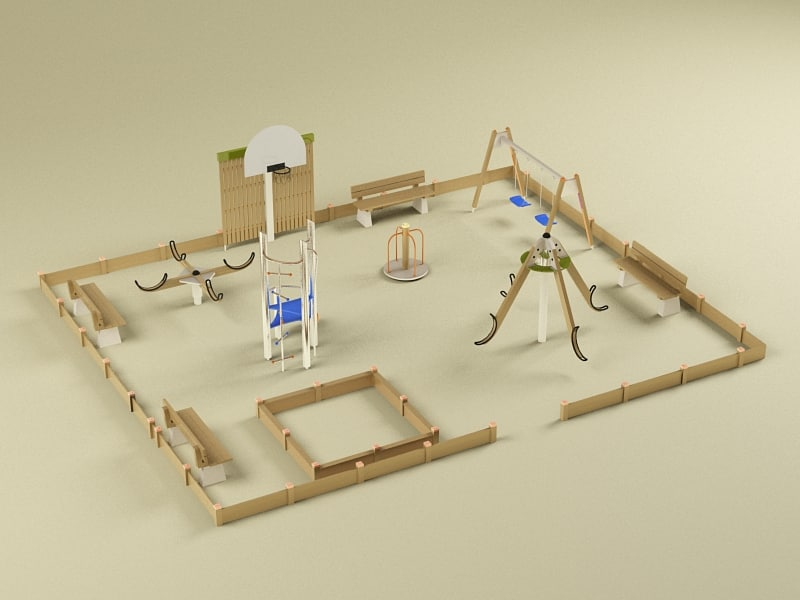playground elements 3d model