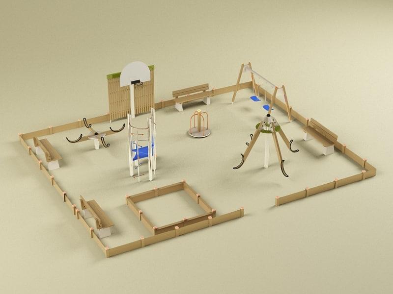 playground elements 3d model