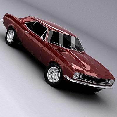 3d model camaro 67
