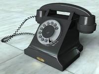 3d old telephone model