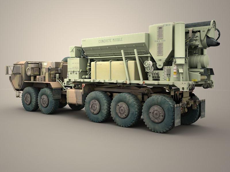 pls concrete mixer module 3d model