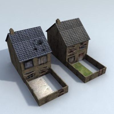 3d derelict house games