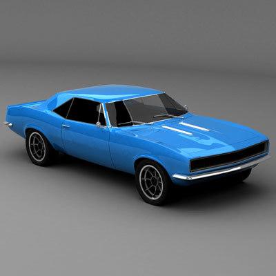 chevrolet camaro automobile 3d model