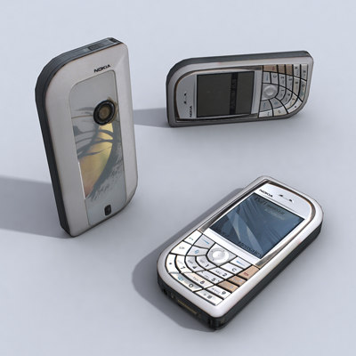 3d model nokia 7610 cell phone
