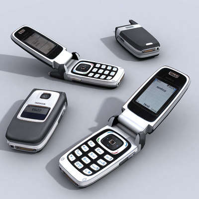 3d nokia 6103 cell phone model