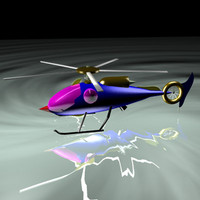 helicopter future science 3d model