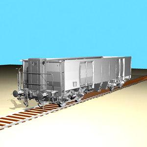 freight wagon 3d model