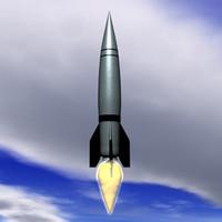 3d model v-2 rocket missile