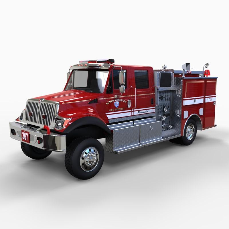 international engine 3d model