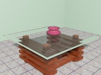free teapot table 3d model